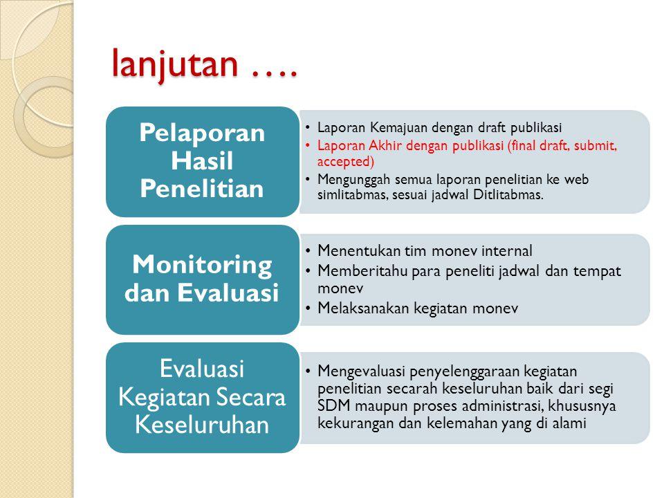 Pelaporan Hasil Penelitian Monitoring dan Evaluasi