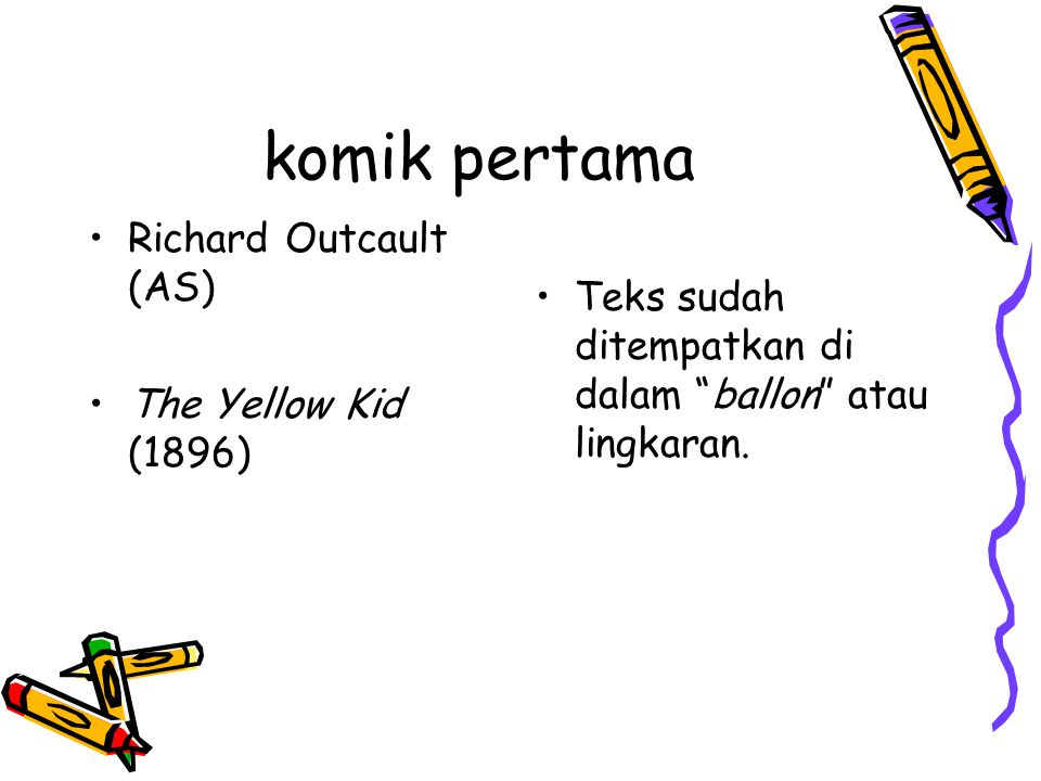 komik pertama Richard Outcault (AS)
