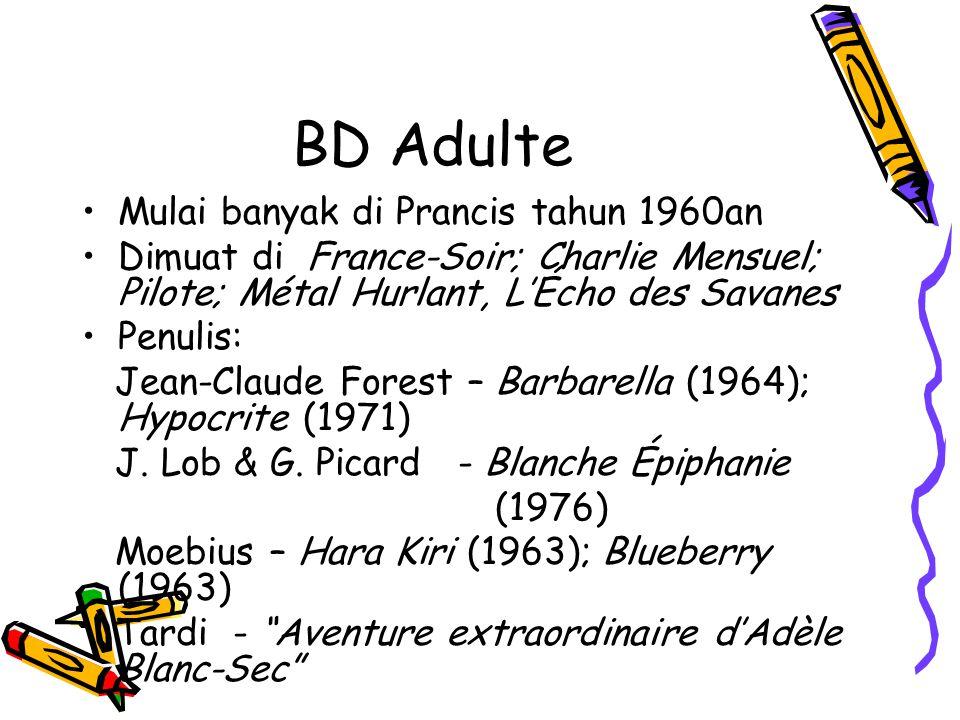 BD Adulte Mulai banyak di Prancis tahun 1960an