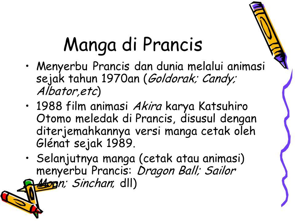 Manga di Prancis Menyerbu Prancis dan dunia melalui animasi sejak tahun 1970an (Goldorak; Candy; Albator,etc)