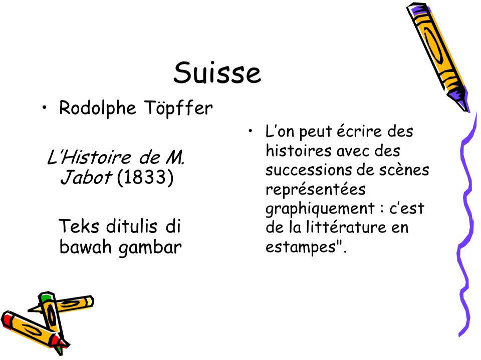 Suisse Rodolphe Töpffer L'Histoire de M. Jabot (1833)