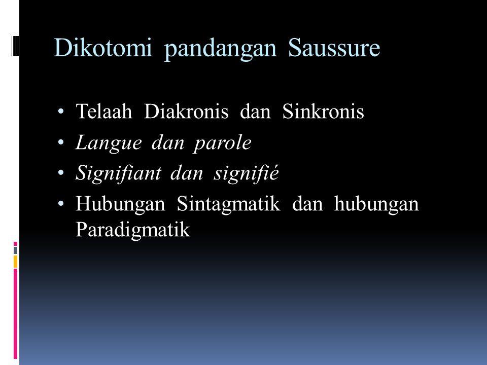 Dikotomi pandangan Saussure