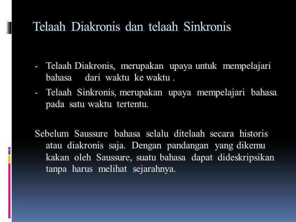 Telaah Diakronis dan telaah Sinkronis