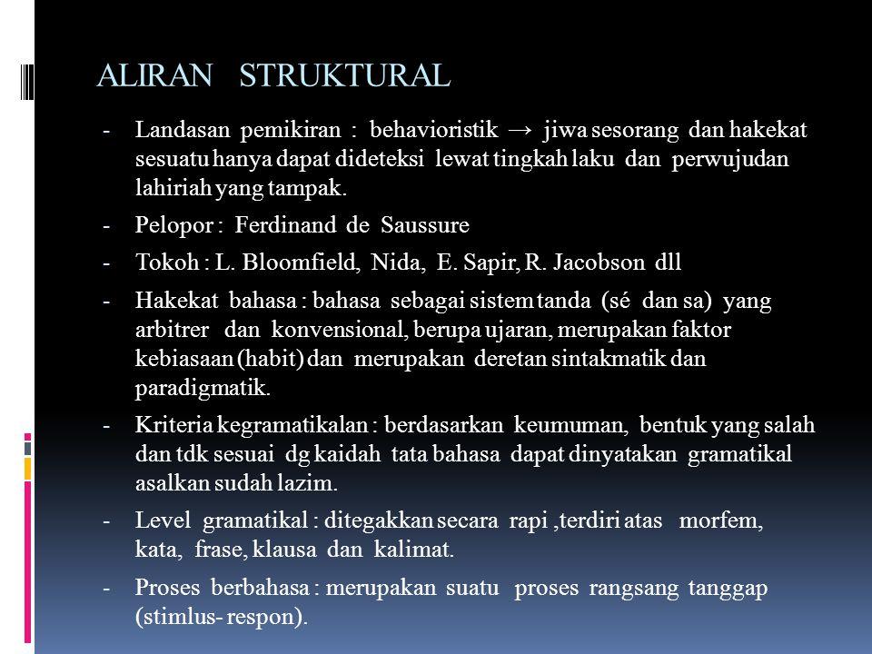 ALIRAN STRUKTURAL