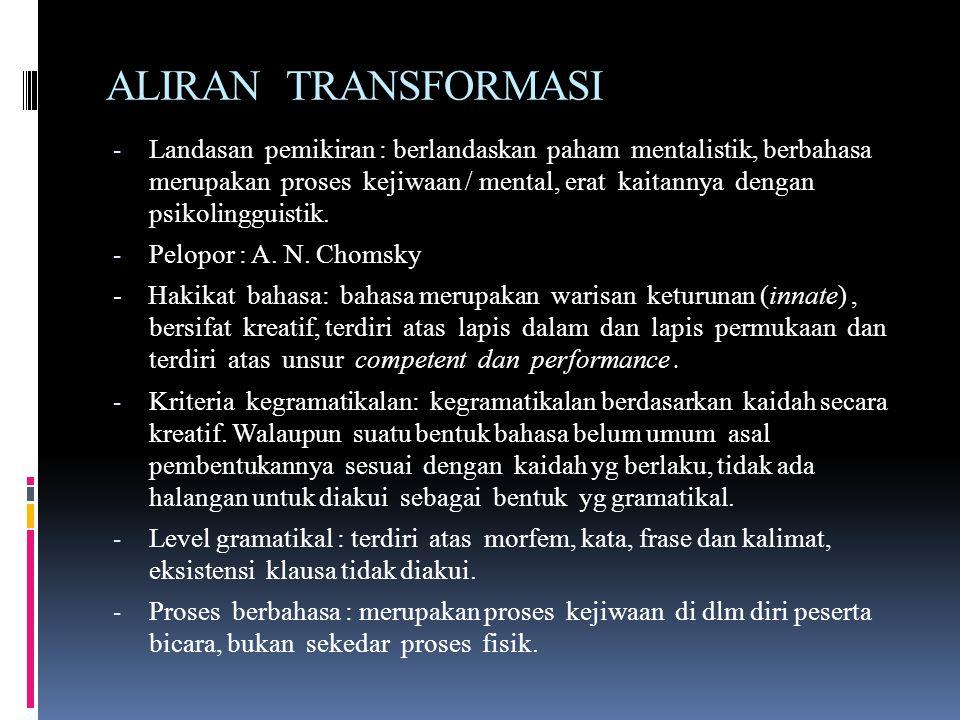 ALIRAN TRANSFORMASI