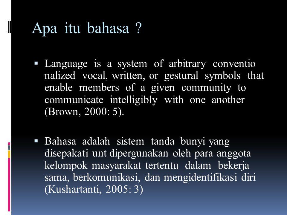 Apa itu bahasa