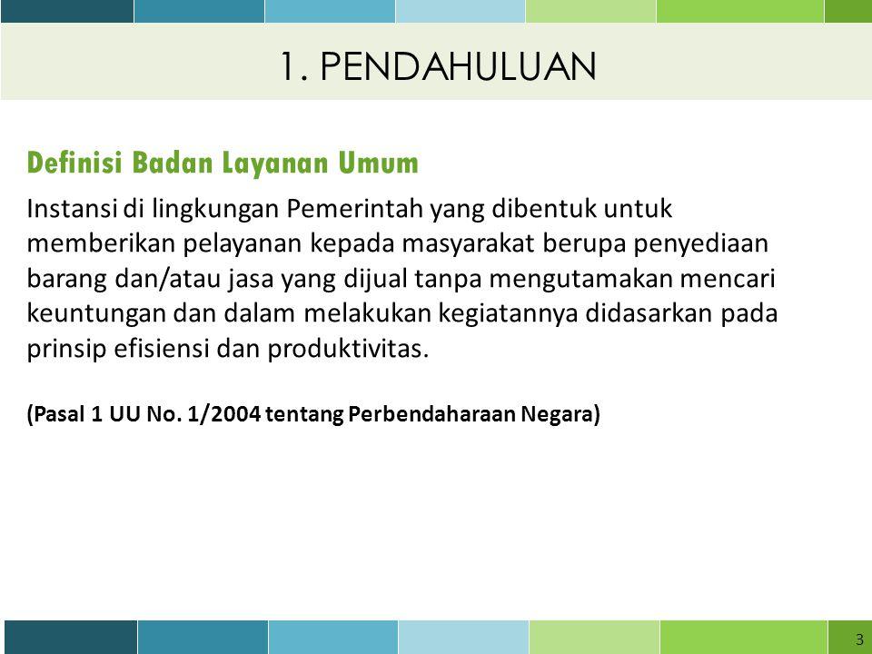 1. PENDAHULUAN Definisi Badan Layanan Umum