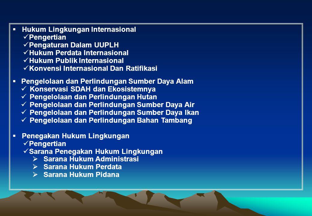 Hukum Lingkungan Internasional