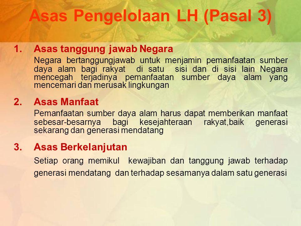 Asas Pengelolaan LH (Pasal 3)