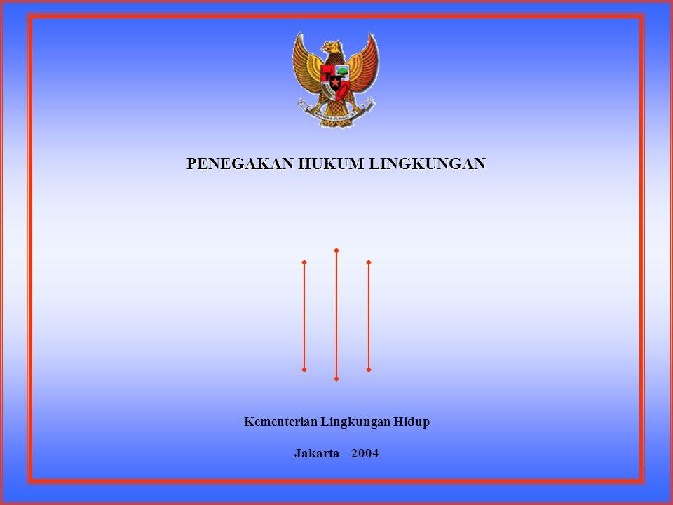 PENEGAKAN HUKUM LINGKUNGAN Kementerian Lingkungan Hidup