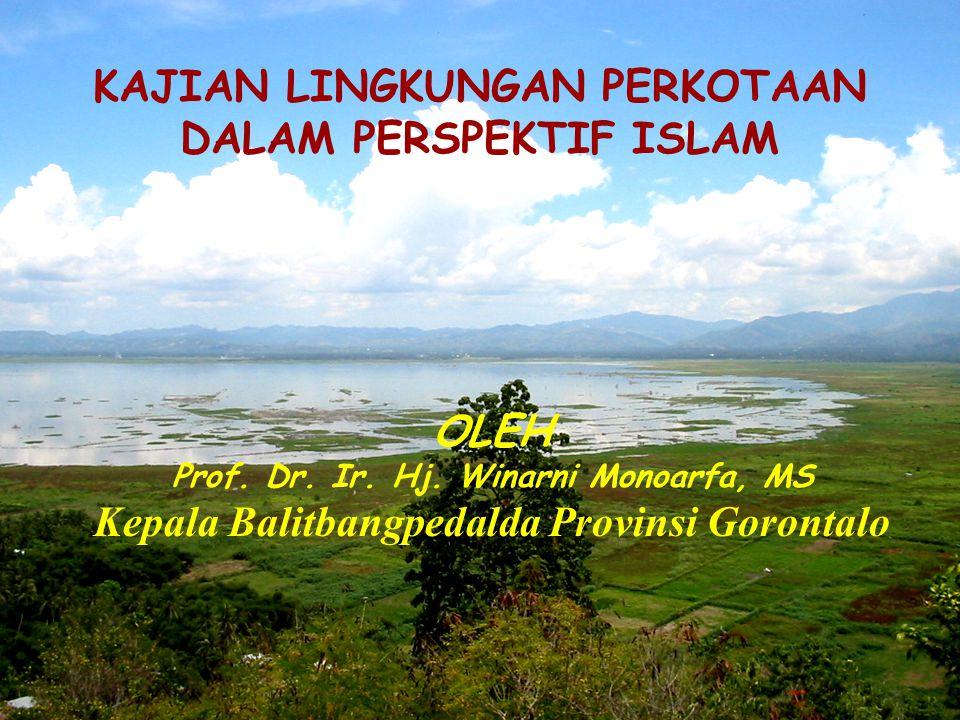 KAJIAN LINGKUNGAN PERKOTAAN DALAM PERSPEKTIF ISLAM