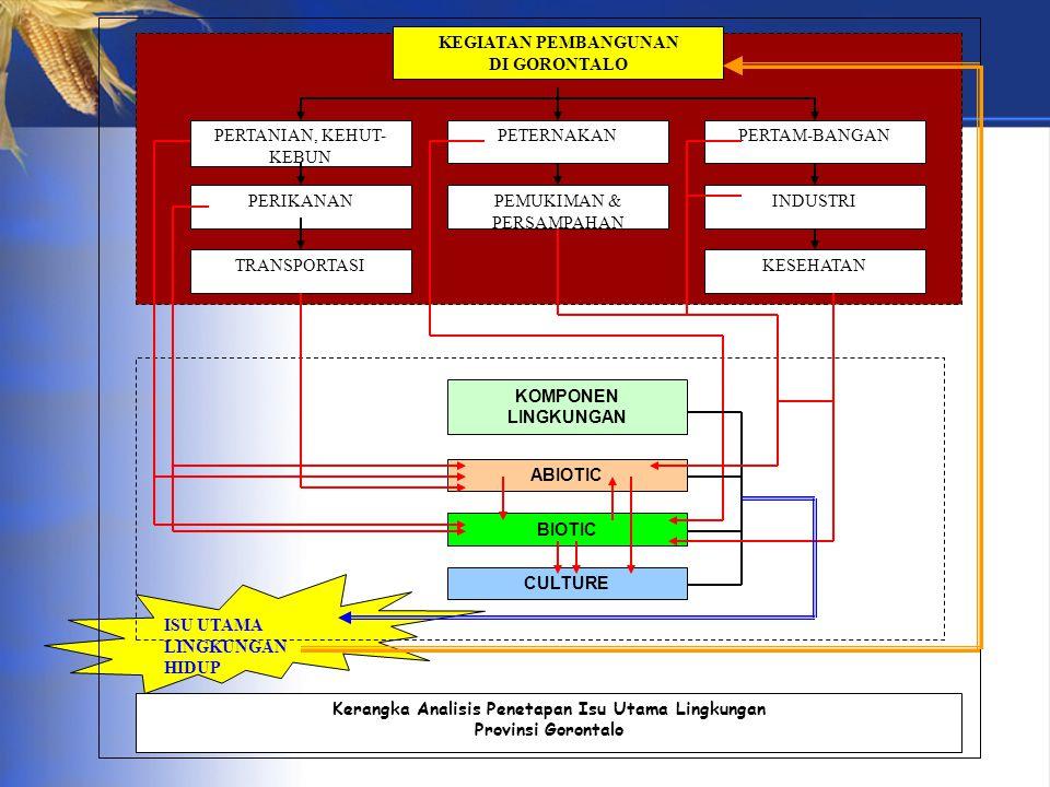 Kerangka Analisis Penetapan Isu Utama Lingkungan