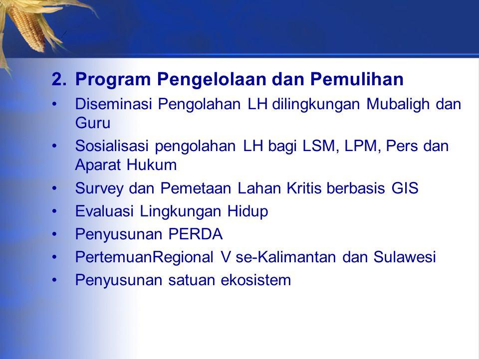 Program Pengelolaan dan Pemulihan