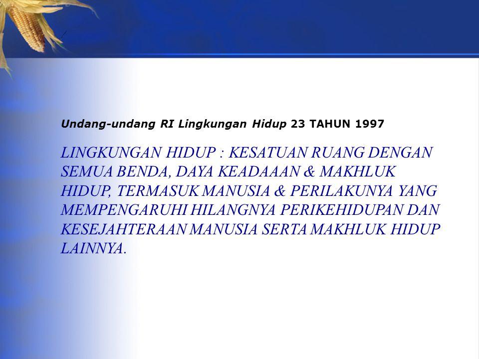 Undang-undang RI Lingkungan Hidup 23 TAHUN 1997