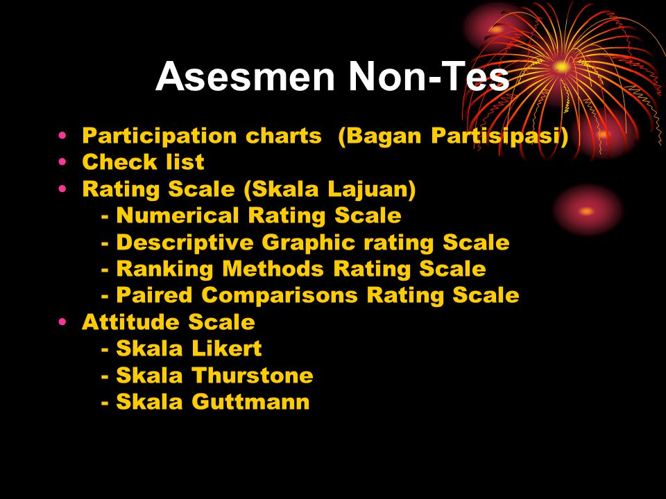 Asesmen Non-Tes Participation charts (Bagan Partisipasi) Check list