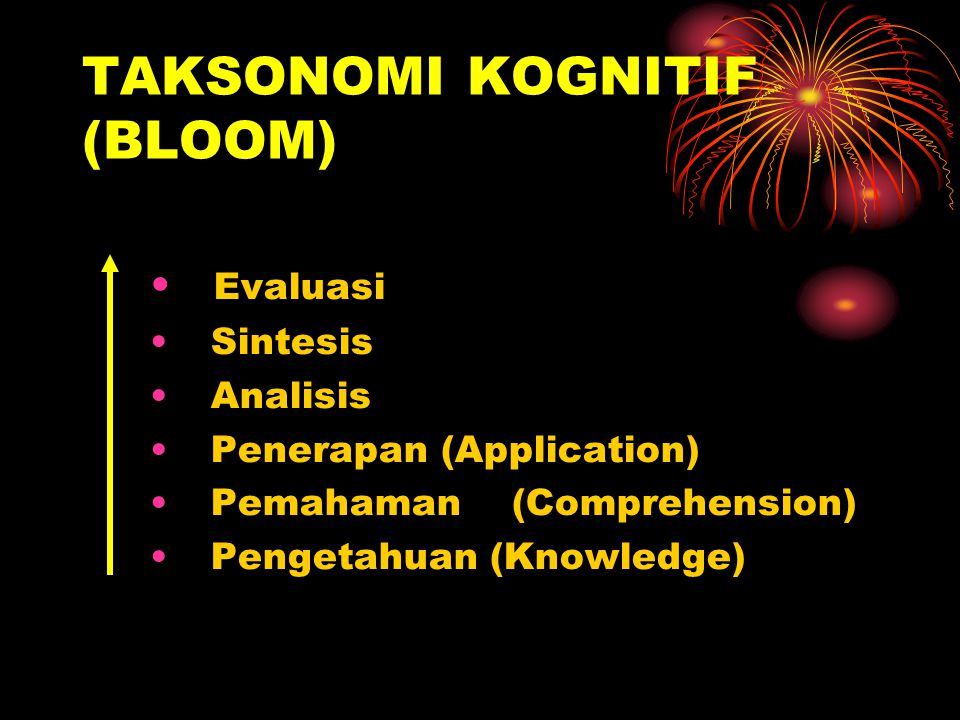 TAKSONOMI KOGNITIF (BLOOM)