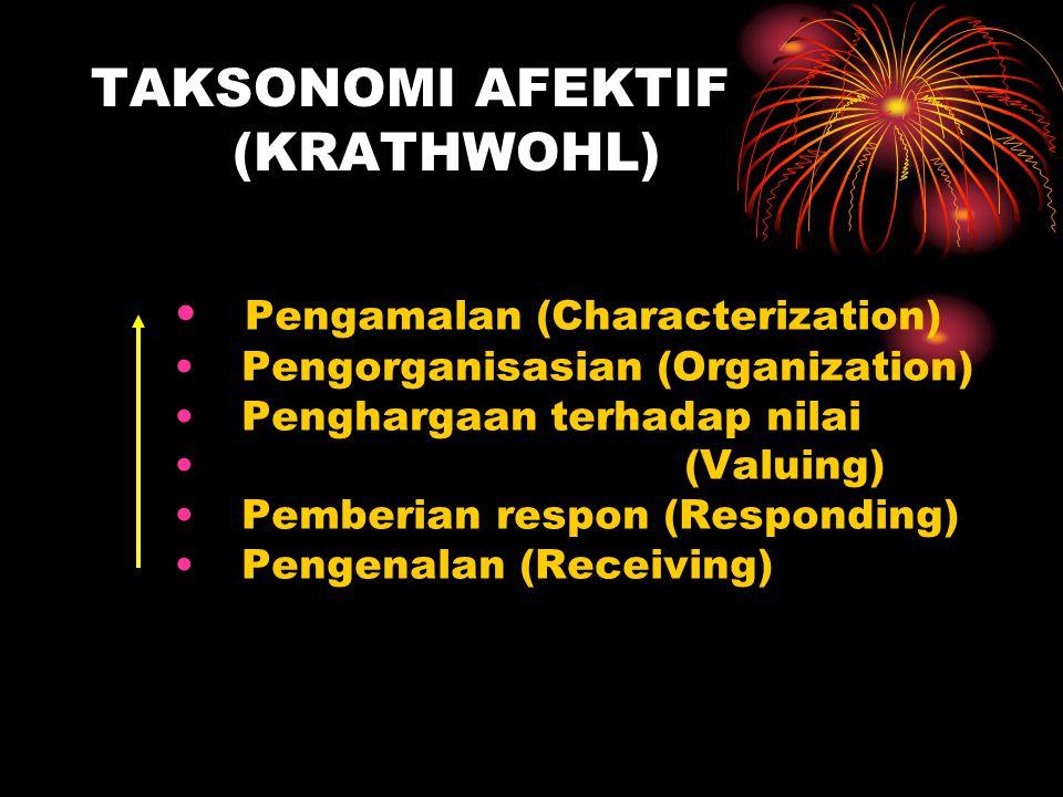 TAKSONOMI AFEKTIF (KRATHWOHL)