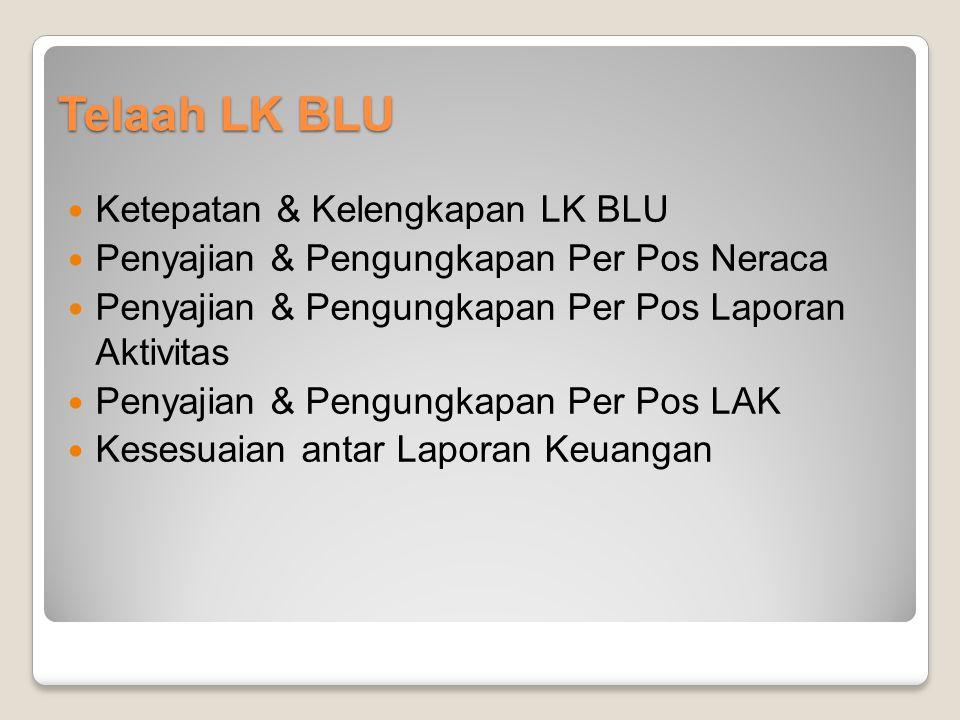 Telaah LK BLU Ketepatan & Kelengkapan LK BLU