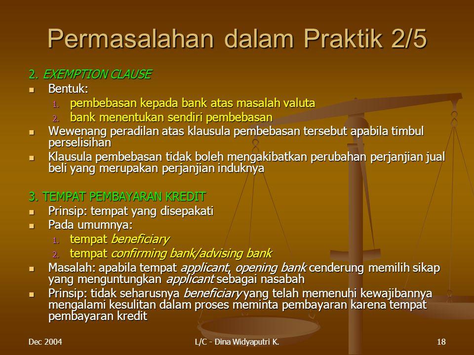 Permasalahan dalam Praktik 2/5