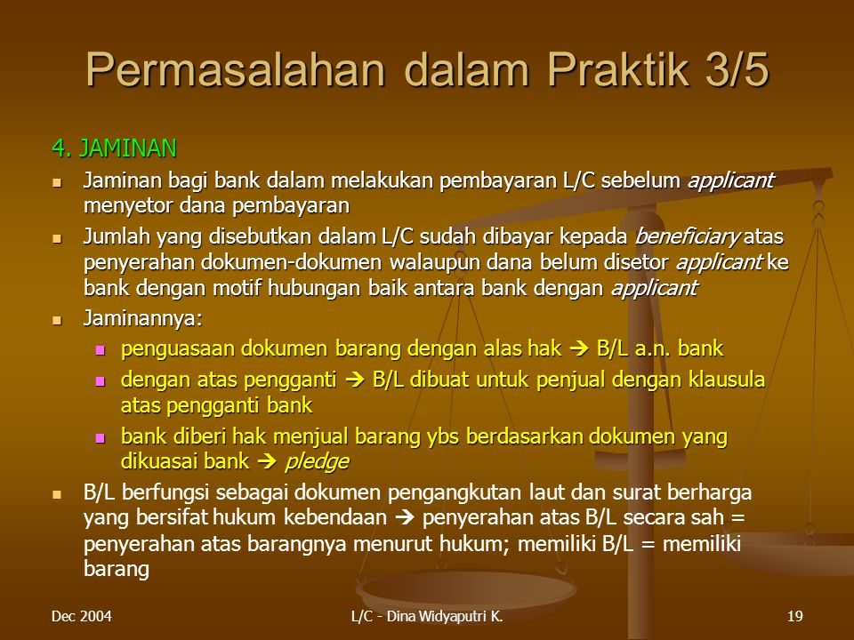 Permasalahan dalam Praktik 3/5