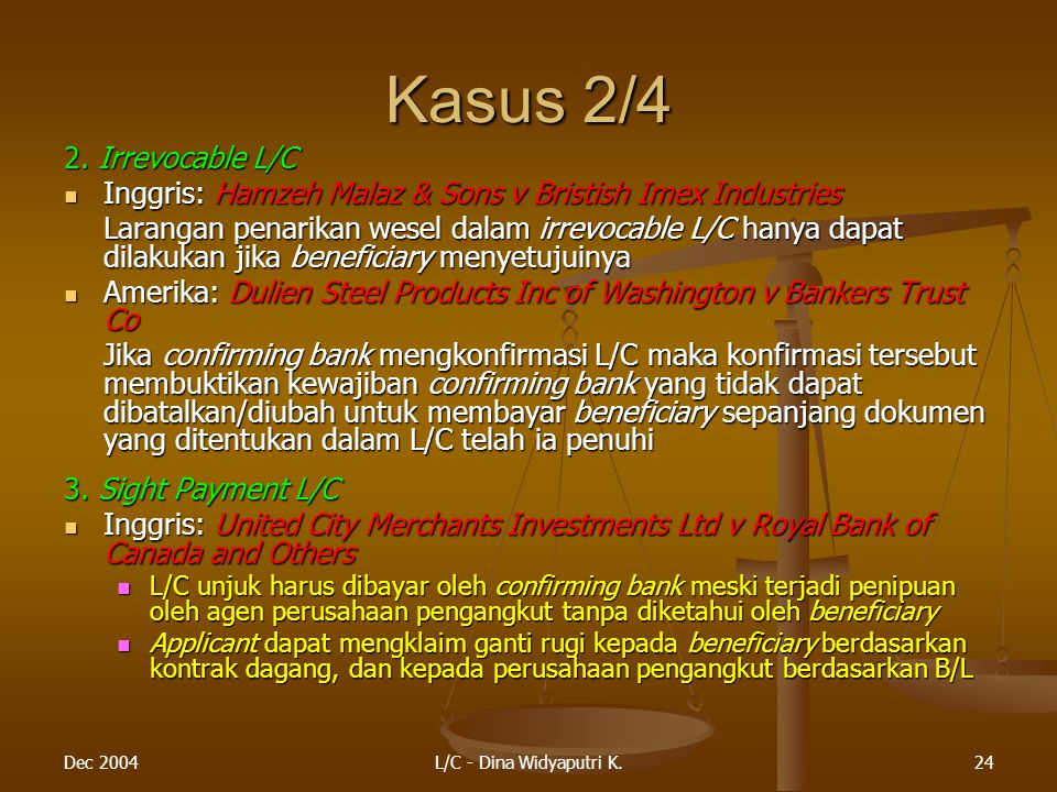 Kasus 2/4 2. Irrevocable L/C