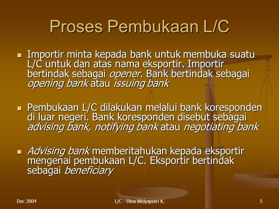 Proses Pembukaan L/C