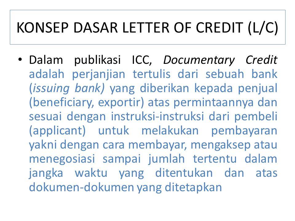 KONSEP DASAR LETTER OF CREDIT (L/C)