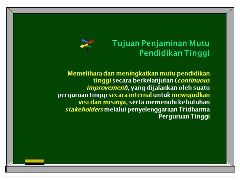 Tujuan Penjaminan Mutu Pendidikan Tinggi