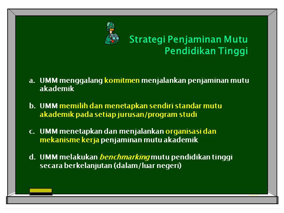 Strategi Penjaminan Mutu Pendidikan Tinggi