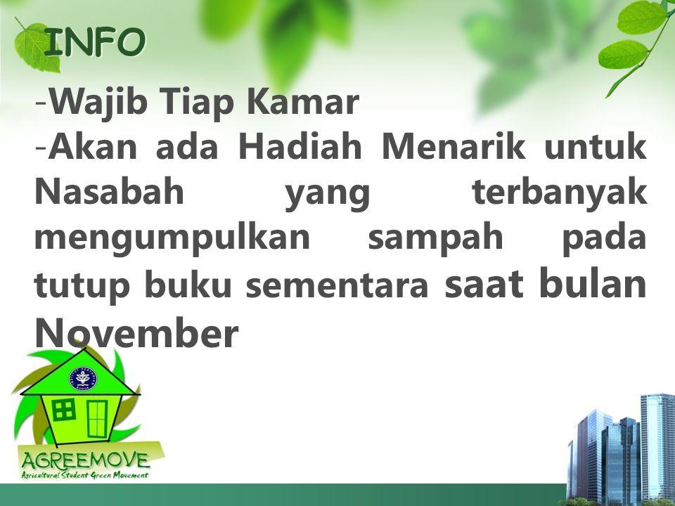 INFO Wajib Tiap Kamar.