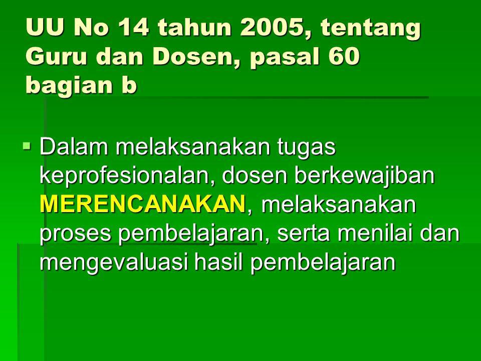 UU No 14 tahun 2005, tentang Guru dan Dosen, pasal 60 bagian b