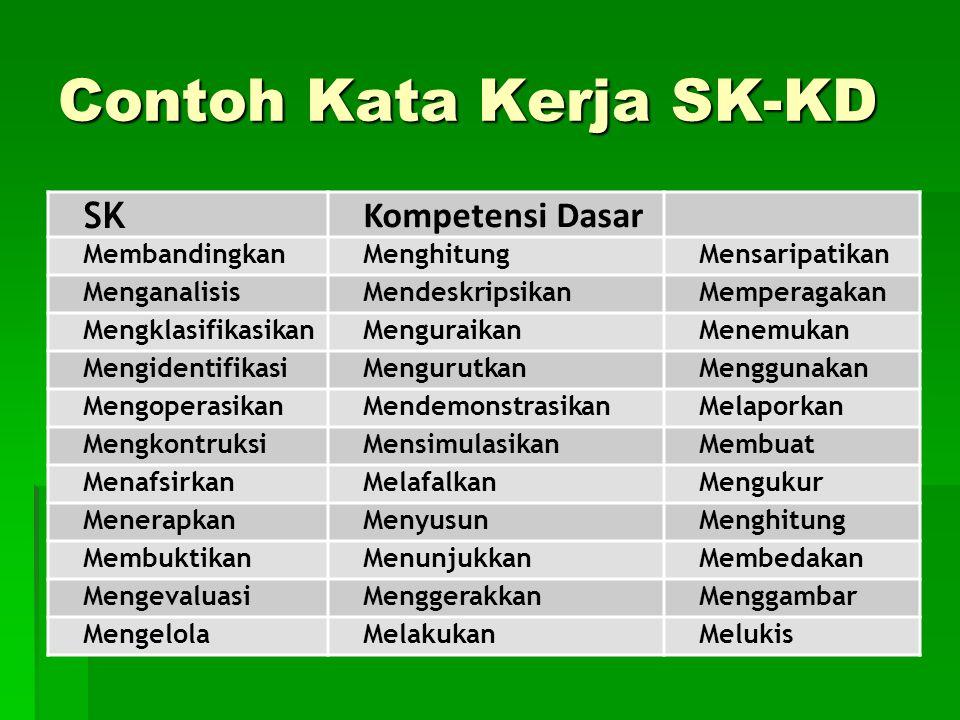 Contoh Kata Kerja SK-KD