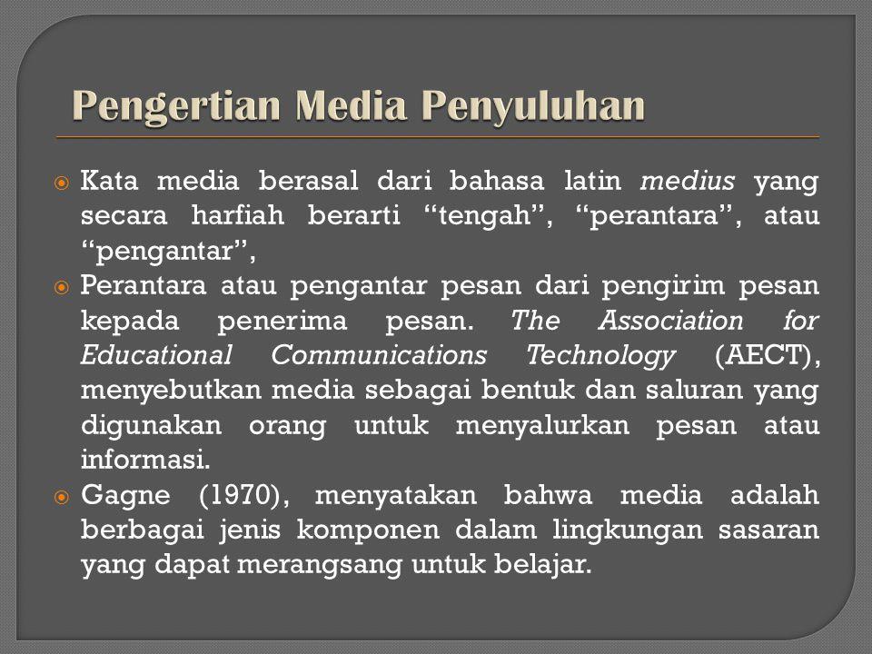 Pengertian Media Penyuluhan