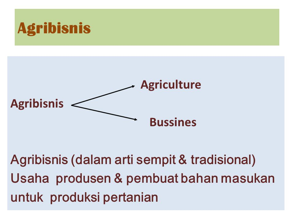 Agribisnis Agriculture Agribisnis Bussines