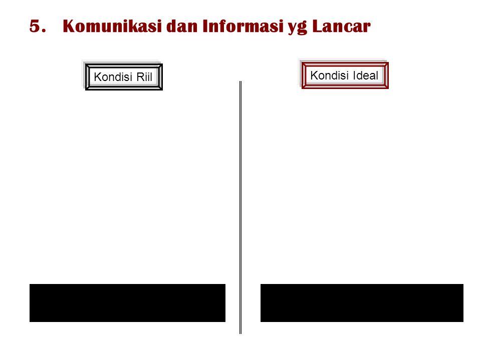5. Komunikasi dan Informasi yg Lancar
