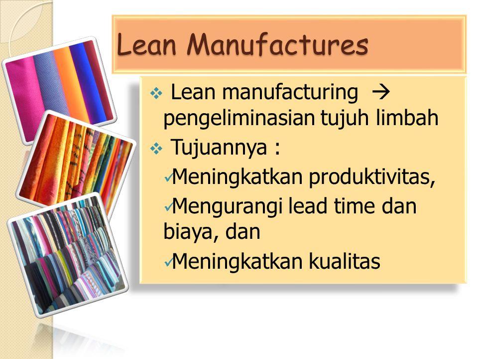 Lean Manufactures Lean manufacturing  pengeliminasian tujuh limbah