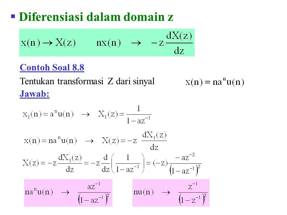 Diferensiasi dalam domain z