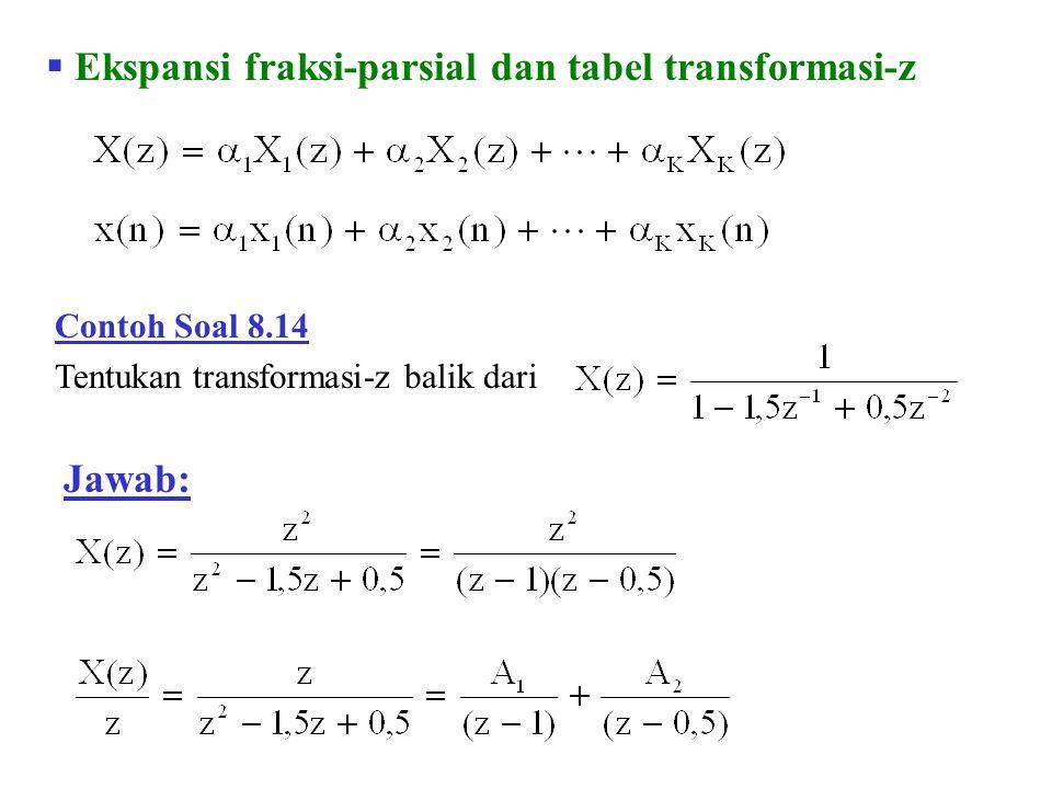 Ekspansi fraksi-parsial dan tabel transformasi-z