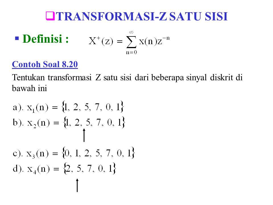 TRANSFORMASI-Z SATU SISI