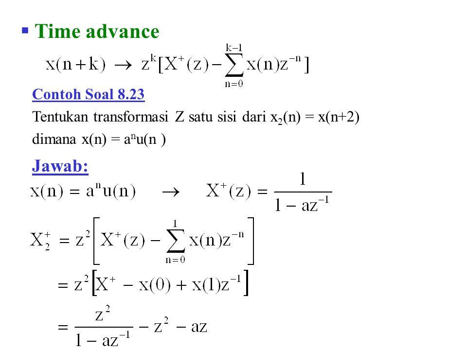 Time advance Jawab: Contoh Soal 8.23