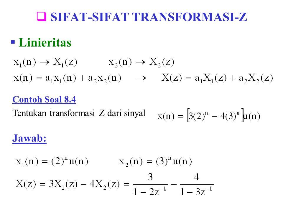SIFAT-SIFAT TRANSFORMASI-Z