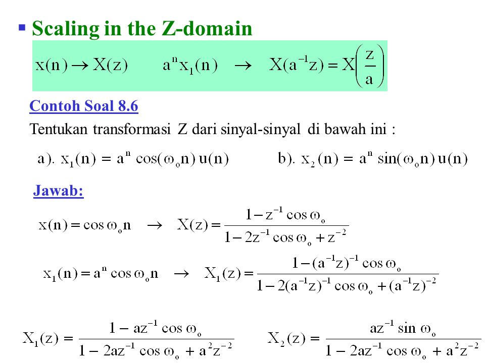 Scaling in the Z-domain