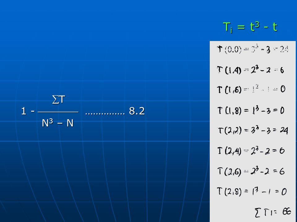 Ti = t3 - t T 1 -  …………… 8.2 N3 – N