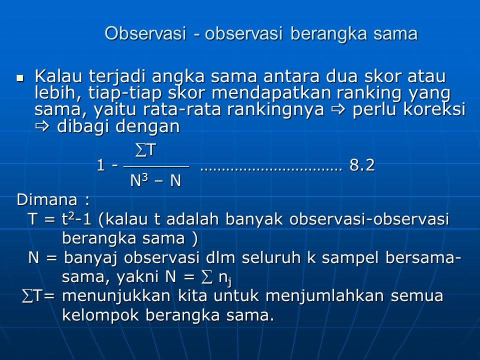 Observasi - observasi berangka sama