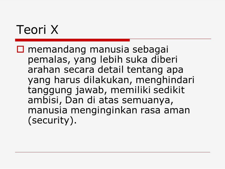 Teori X