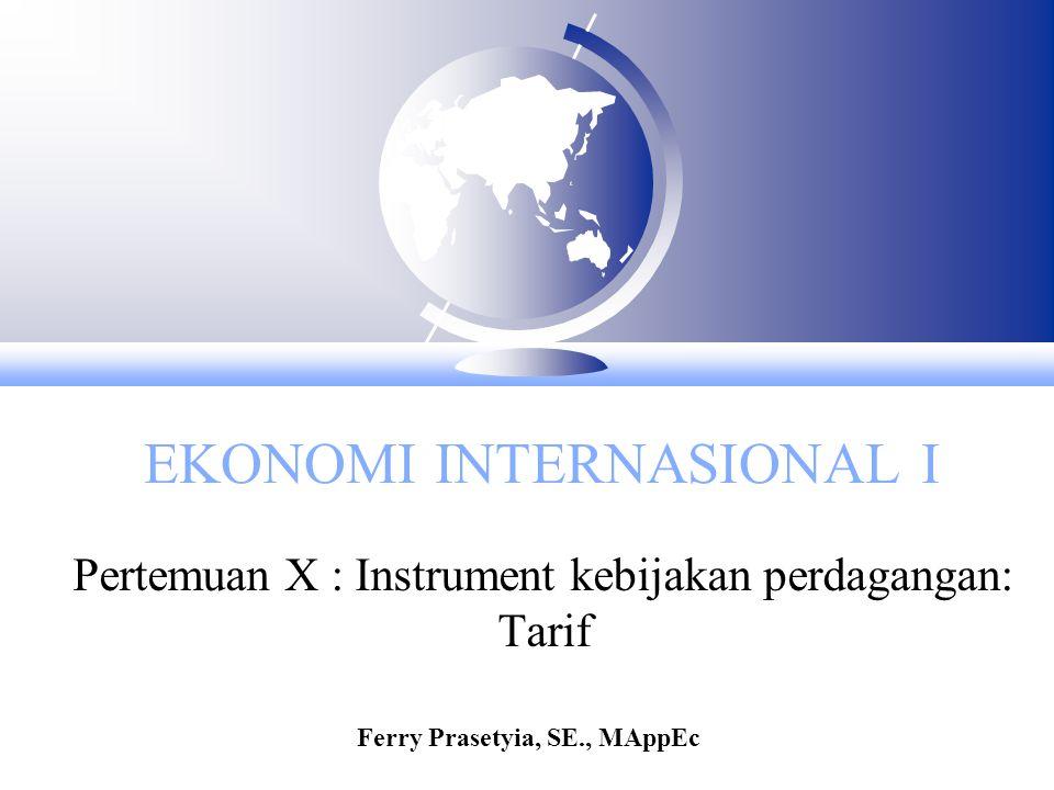 EKONOMI INTERNASIONAL I