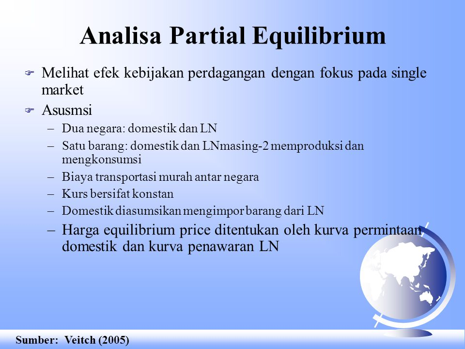 Analisa Partial Equilibrium
