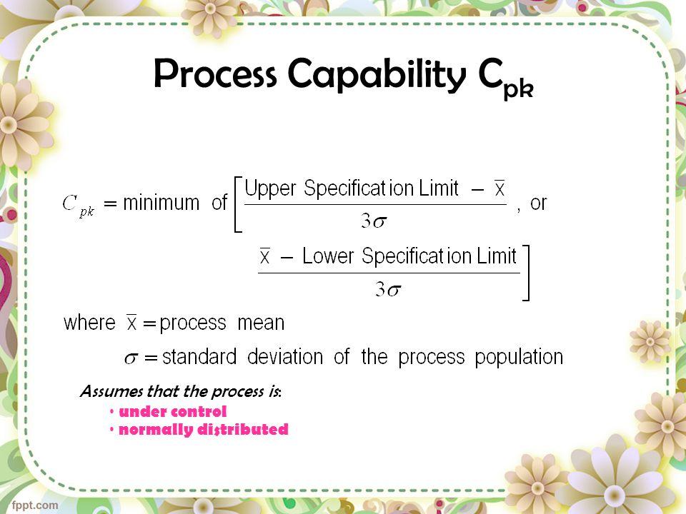 Process Capability Cpk