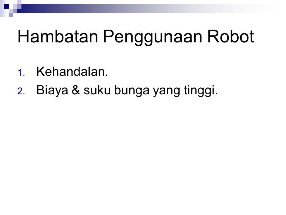 Hambatan Penggunaan Robot