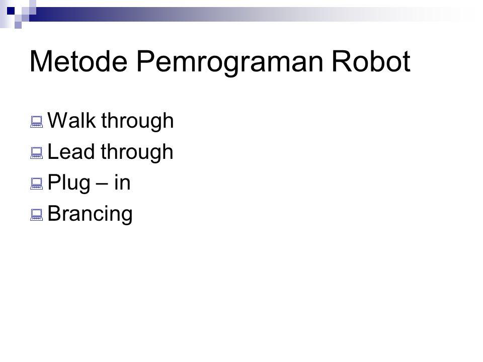 Metode Pemrograman Robot